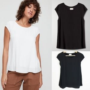 Wilfred Free Juliger | Short Sleeve Crepe Blouse